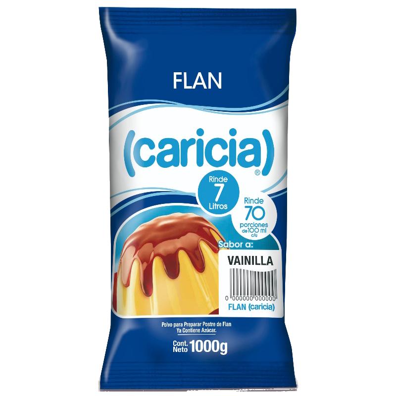 FLAN VAINILLA Caricia 1 Kg