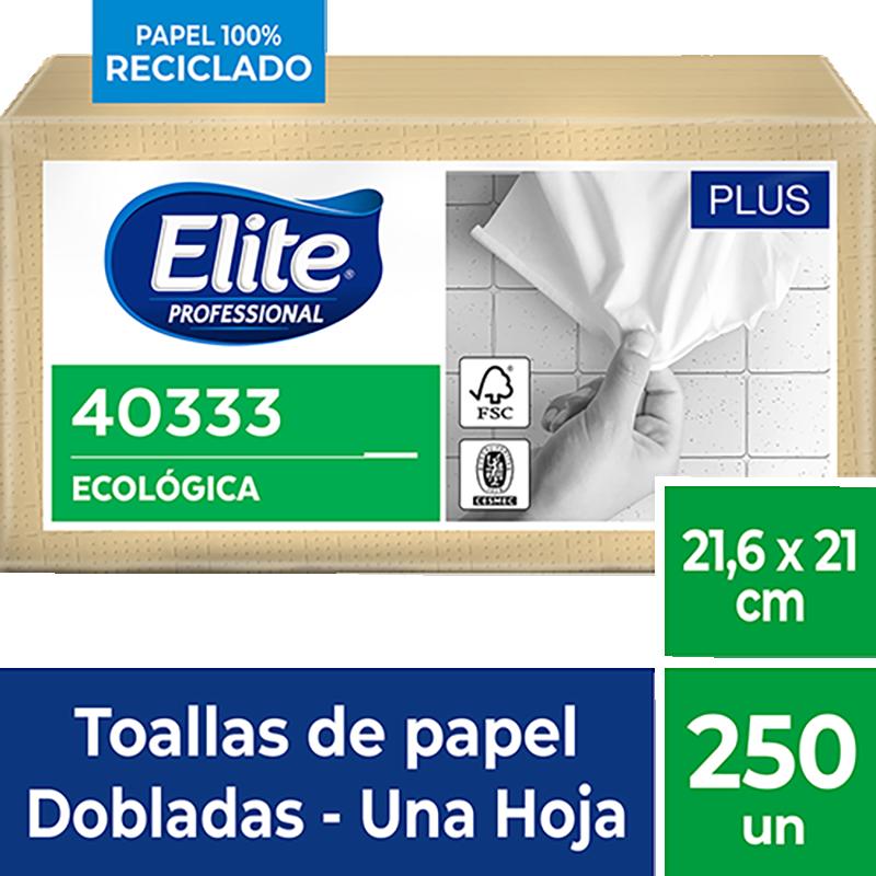 TOALLA DE PAPEL INTERFOLIADA NATURAL ELITE 250 Uni