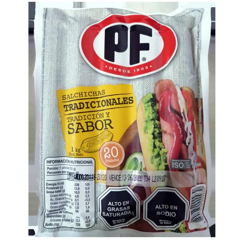Salchichas de cerdo PF 1 kg
