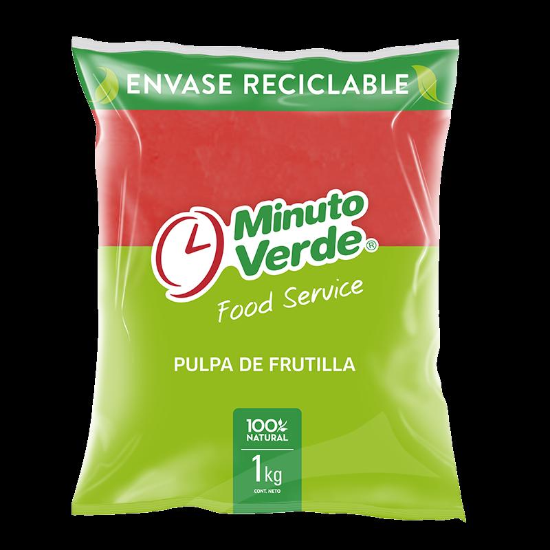 Pulpa de frutilla Minuto Verde 1 Kg