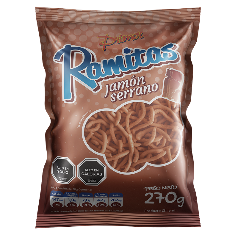 Ramitas sabor Jamón Primor 270 gr