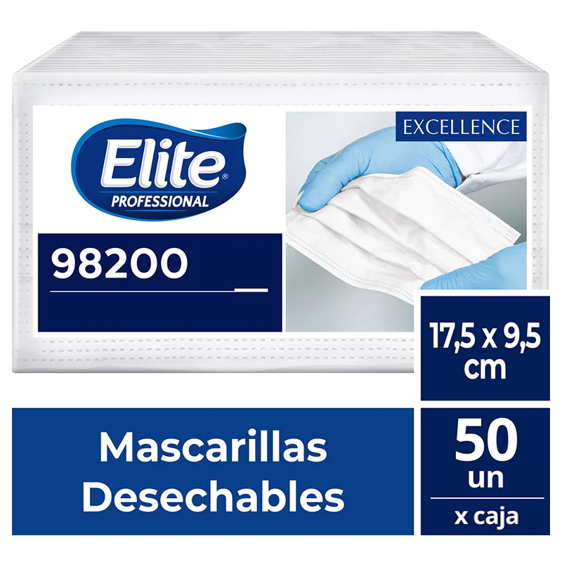 Mascarilla Elite Professional 50 unidades