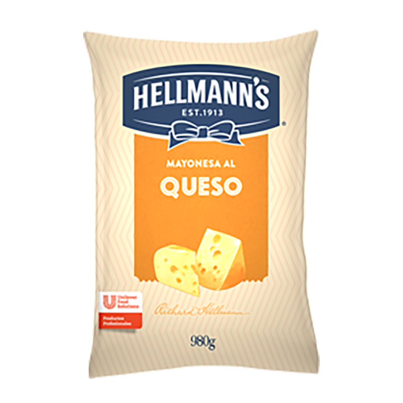 Salsa de queso Hellmann's 980 g