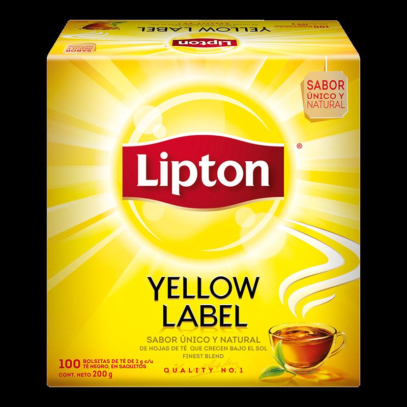 Té lipton yellow label 100 bolsas