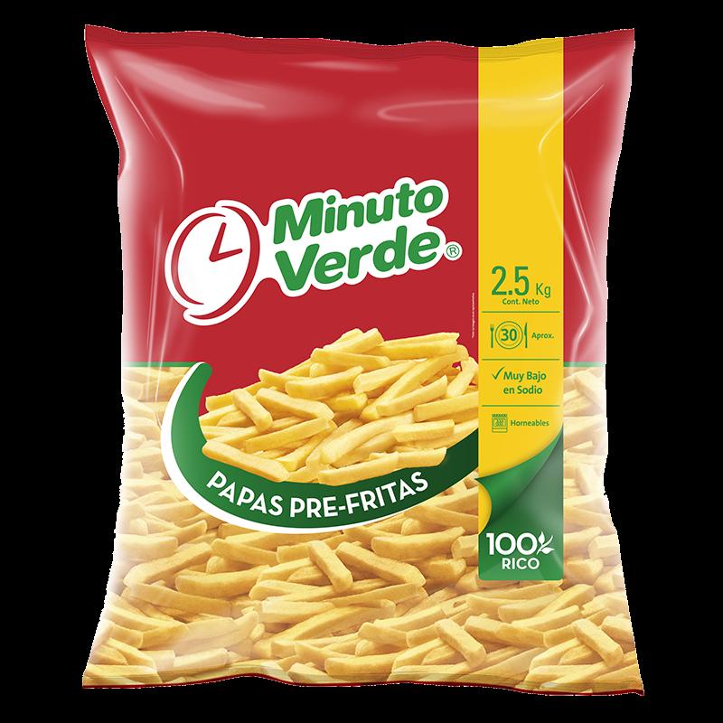 Papas pre fritas Minuto Verde 2,5 Kg