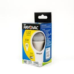 RAYOVAC, AMPOLLETA LED 6W CÁLIDA 10X10
