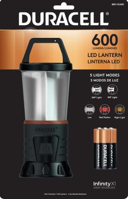 DURACELL, LINTERNA LED 600 +3 PILAS AAA  (FAROL COLGANTE)