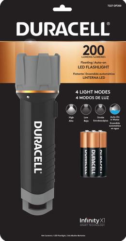 DURACELL, LINTERNA LED 200 DE MANO +3 PILAS AAA