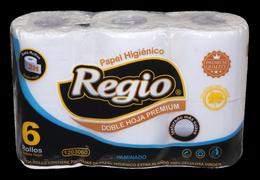 REGIO, PAPEL HIGIENICO  DOBLE HOJA  x 6